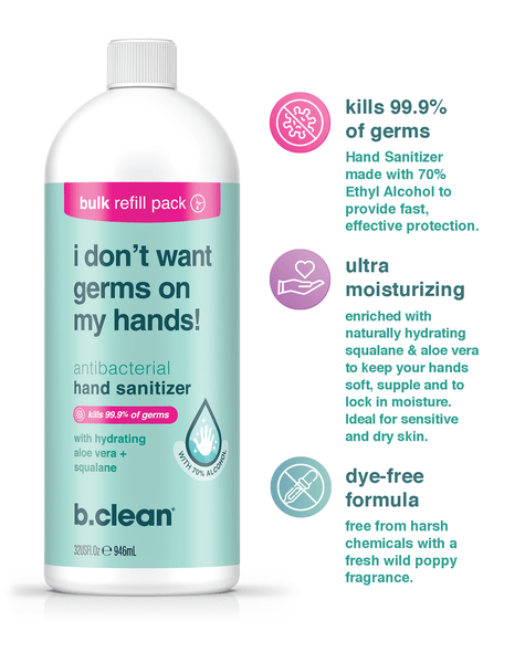 b.clean i don't want germs on my hands... hand sanitizer gel hand sanitizer gel