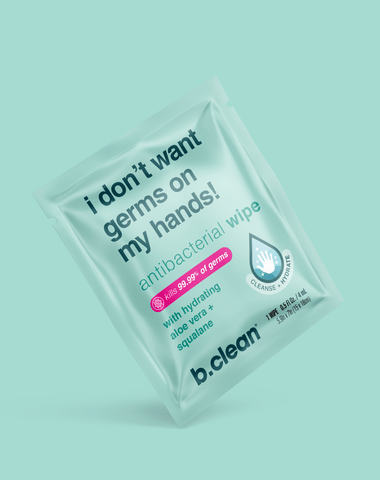 b.clean i don't want germs on my hands... antibacterial wipes hand sanitizer wipes