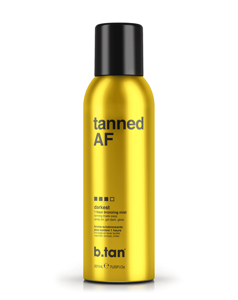 b.tan tanned AF bronzing mist b.tan Foam