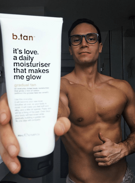 b.tan it's love. a daily moisturiser that makes me glow... b.tan Everyday