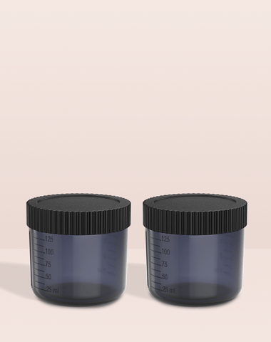 Excess 2 Tan.Cup 2 Pack inc Lids - Black Transparent Tan.Easy Pro Tools