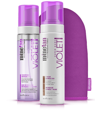 MineTan Violet Tanning Pack Product Bundle