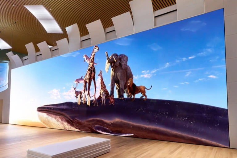 Sony's new MicroLED display stands 17 feet tall and packs 16K resolution