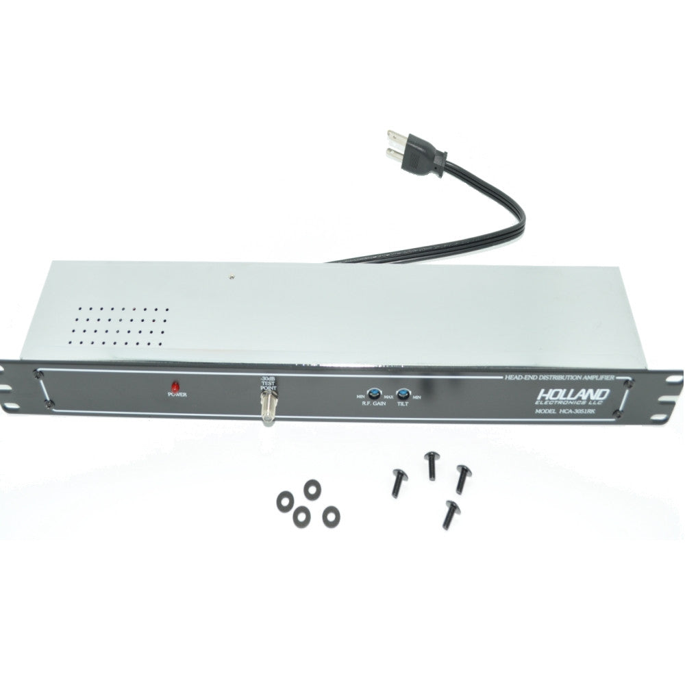 Holland Electronics HCA-3051RK Amplifier Rack Mountable, 30 Db, 500 MHz - 21st Century Entertainment Inc.