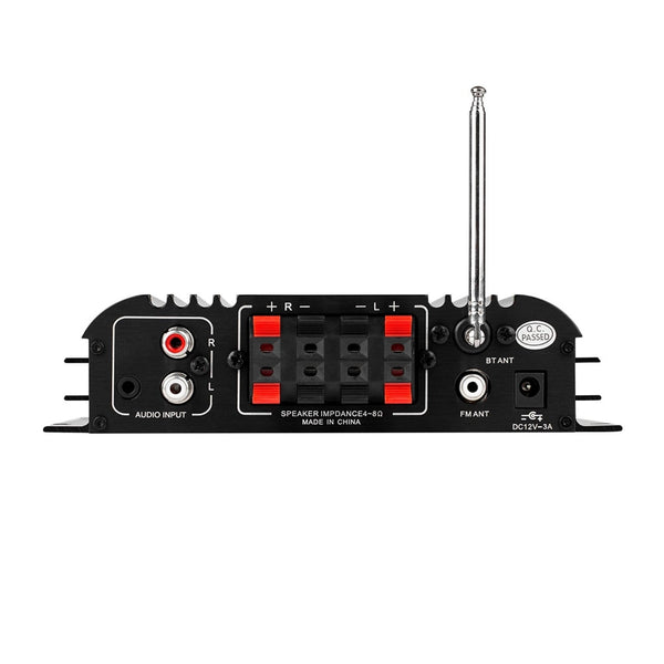 Lepai LP-269FS 4x45W Mini Amplifier with Remote USB MP3 Media Card FM with Bluetooth - 21st Century Entertainment Inc.
