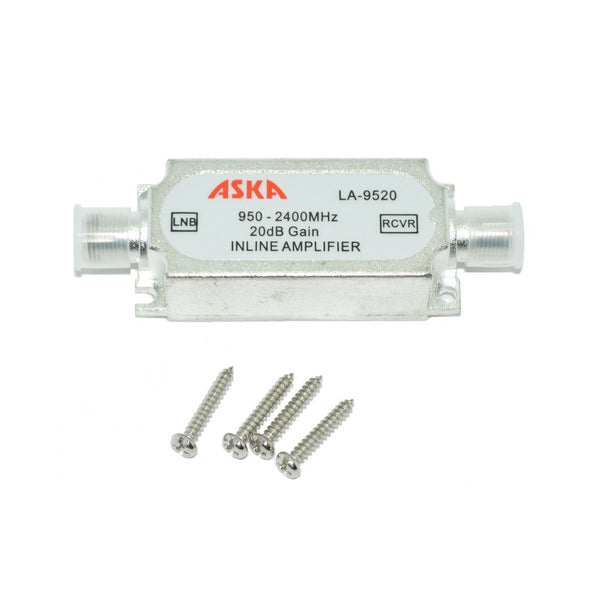 Aska 20dB In-Line Amplifier 950 - 2400Mhz - 21st Century Entertainment Inc.