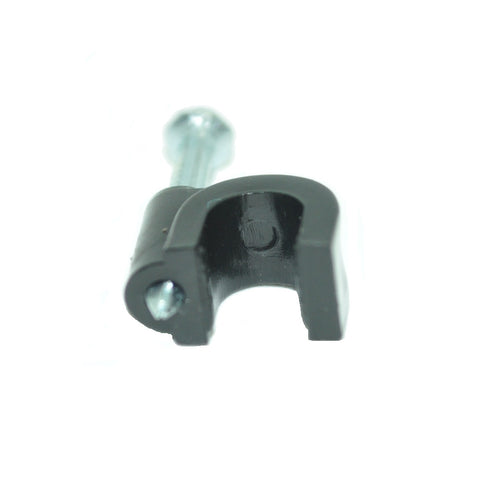 Single Cable Clips with Screw for RG6 Cable,100 per Pack