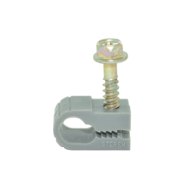 Single Cable Clips with Screw for RG6 Cable,100 per Pack - 21st Century Entertainment Inc.