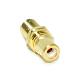 Steren 251-501 RCA Jack Female to F81 Panel Mount Adapter Gold Connector c/w Multi Colour Bands - 21st Century Entertainment Inc.