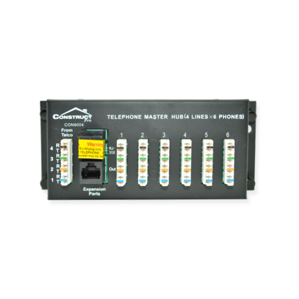 Construct Pro Con9004 1x6 Telephone Module W Rj31 Jack 21st Where To Put Structured Wiring Wall Jacks