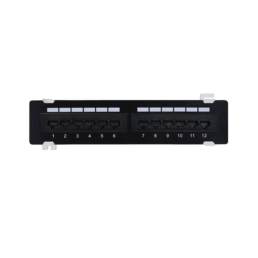 CDD 12-Port Cat6 Patch Panel - 21st Century Entertainment Inc.