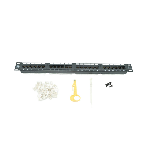 Steren 310-324  24-Port Cat5e Patch Panel - 21st Century Entertainment Inc.