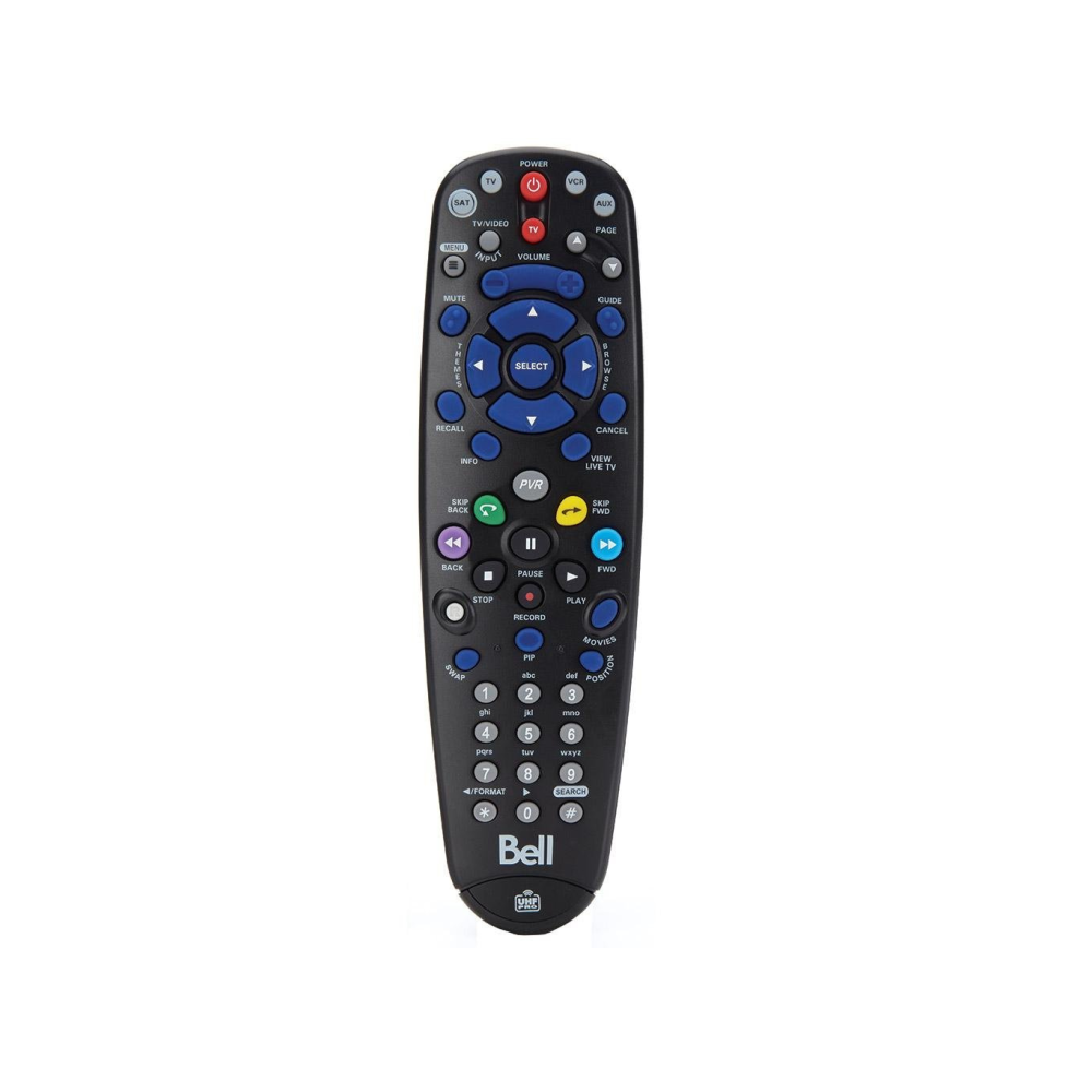 Bell TV 5.4  IR/UHF Pro Replacement Remote Control - 21st Century Entertainment Inc.