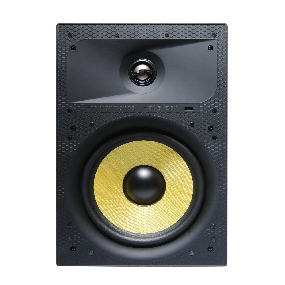 "CDD 6.5"" In-Wall Speaker, Magnetic Grill, Frameless, Kevlar Cone Woofer (Pair) - 21st Century Entertainment Inc."