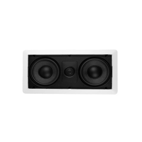 "CDD 6.5"" In-Wall Speaker, Magnetic Grill, Frameless, Kevlar Cone Woofer (Pair)"