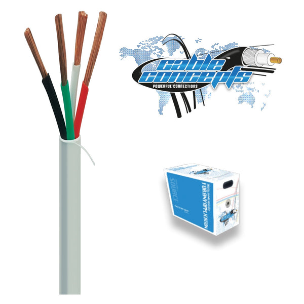 Cable Concepts Speaker Wire 14AWG/4C, 65 Strand, FT4, CSA, 500 Ft, White - 21st Century Entertainment Inc.
