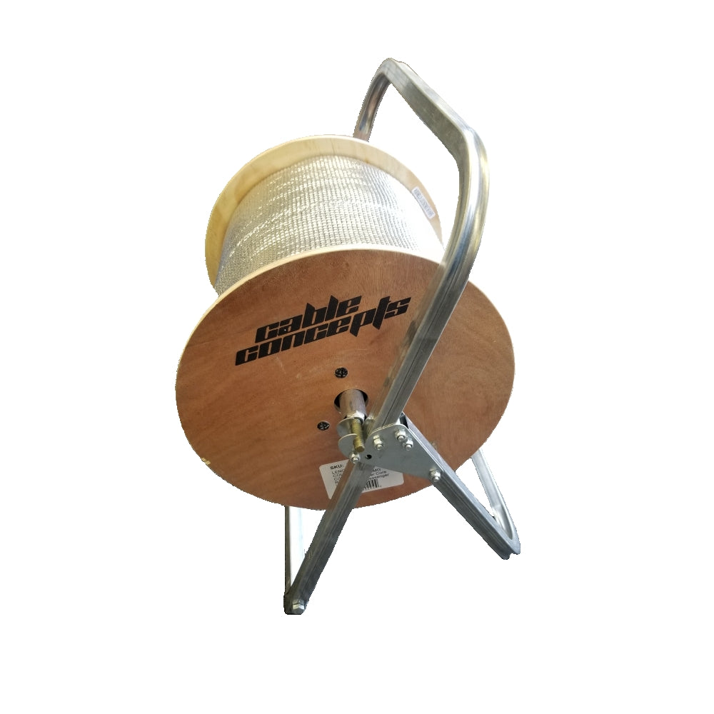 "CDD Aluminum Cable Caddy, Holds Cable Reels Up to 20"" Diameter and 100 lb Capacity"