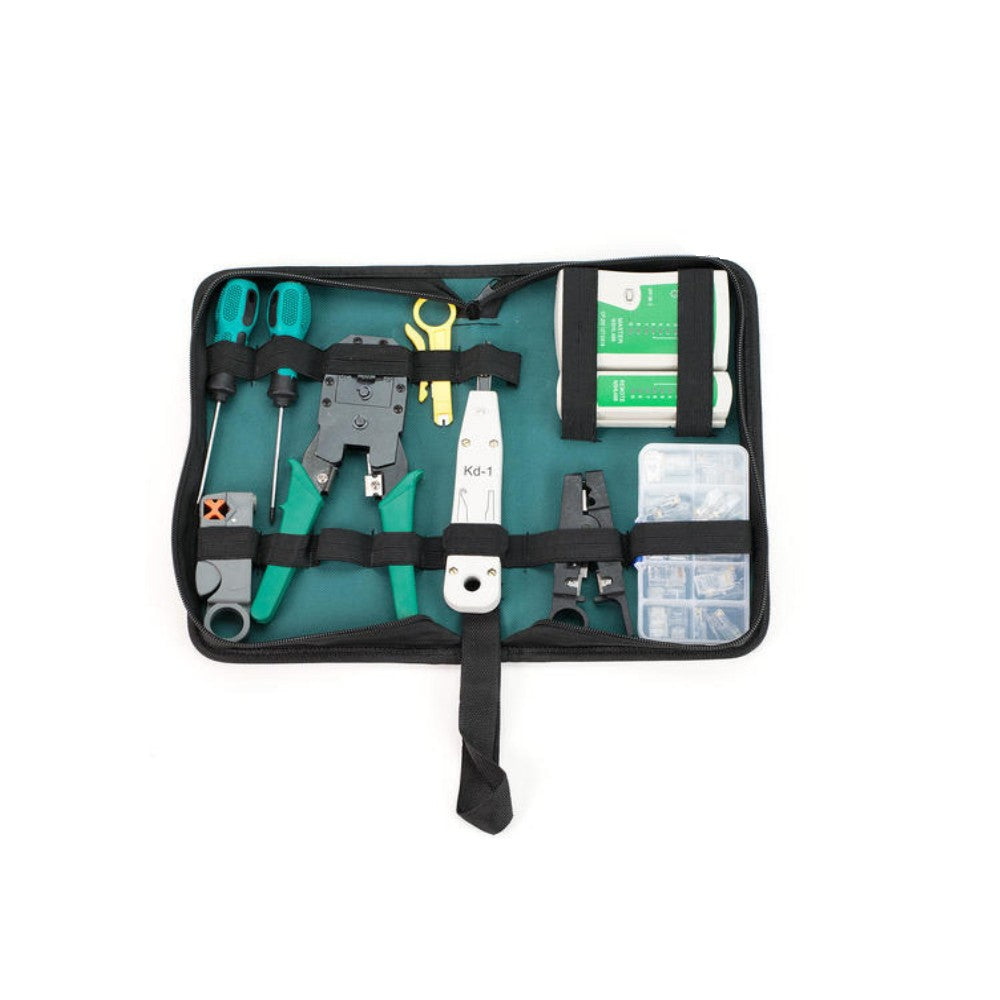 CDD Ethernet Network RJ-45 Stripping, Crimping, Tester, Punch Down Tool, 9pcs Combo - 21st Century Entertainment Inc.