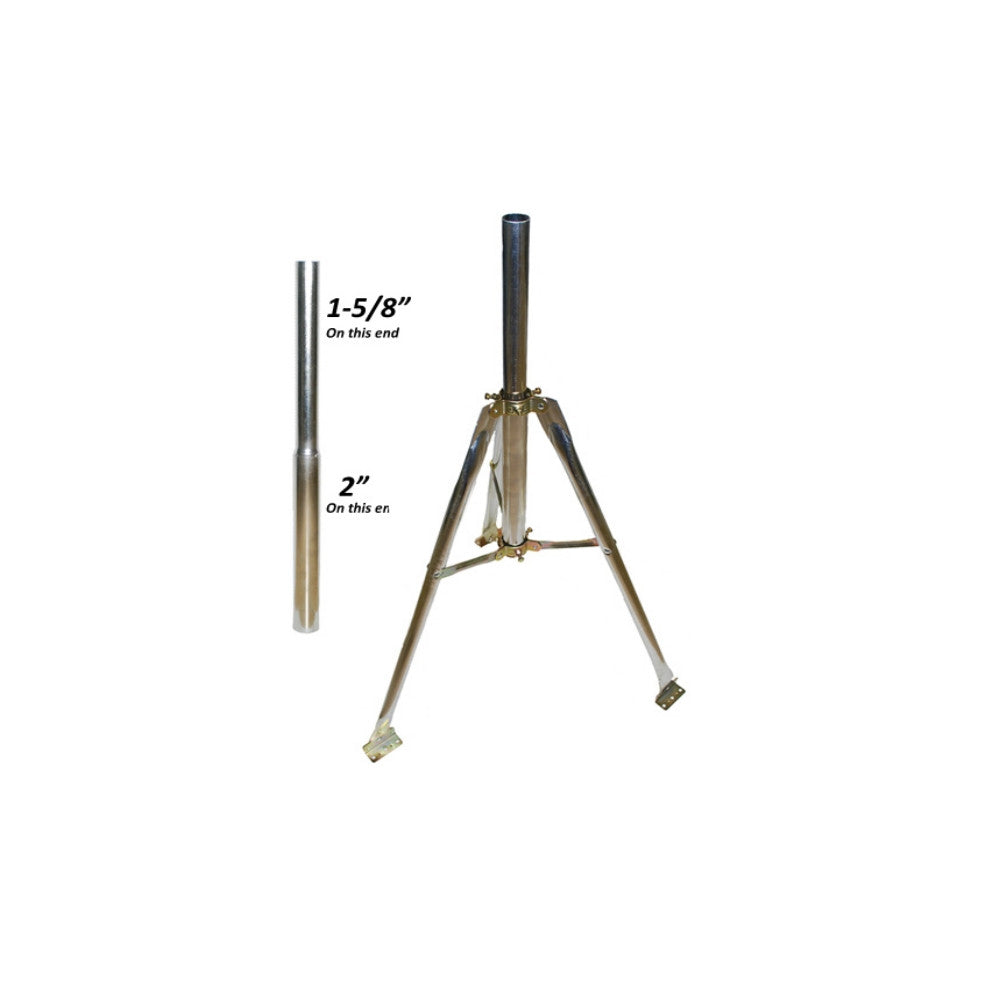 "CDD 3 ft. Galvanized Tripod Kit, comes with 24 Pole, 1 5/8"" & 2"" OD (Universal Post Kit) - 21st Century Entertainment Inc."