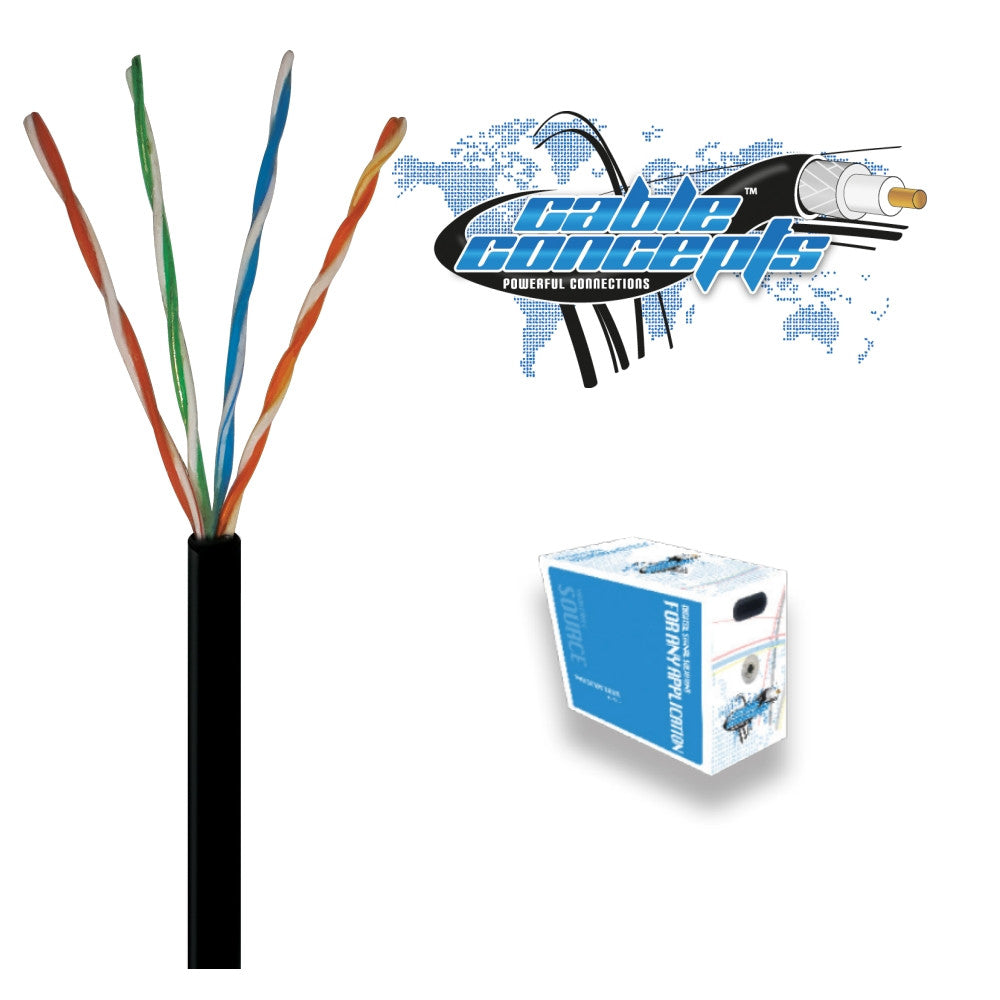 Cable Concepts Cat5E Flooded / Outdoor, 4 Pr, 1000 Ft - 21st Century Entertainment Inc.