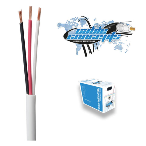 Skyline™ SKL1602K, 16 AWG 2-Conductor CL3-Rated Speaker Cable, 500 Ft Box (Black)