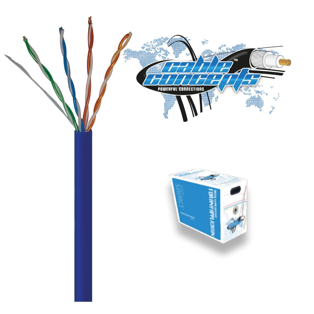 Cable Concepts Cat5E, 24 AWG, 4 Pr, FT4/CSA, 1000 Ft - 21st Century Entertainment Inc.