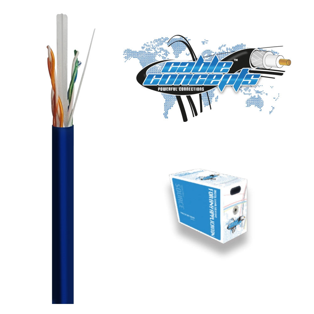 Cable Concepts Cat6, 23AWG, 4 Pr, FT4/CSA, 1000 Ft - 21st Century Entertainment Inc.