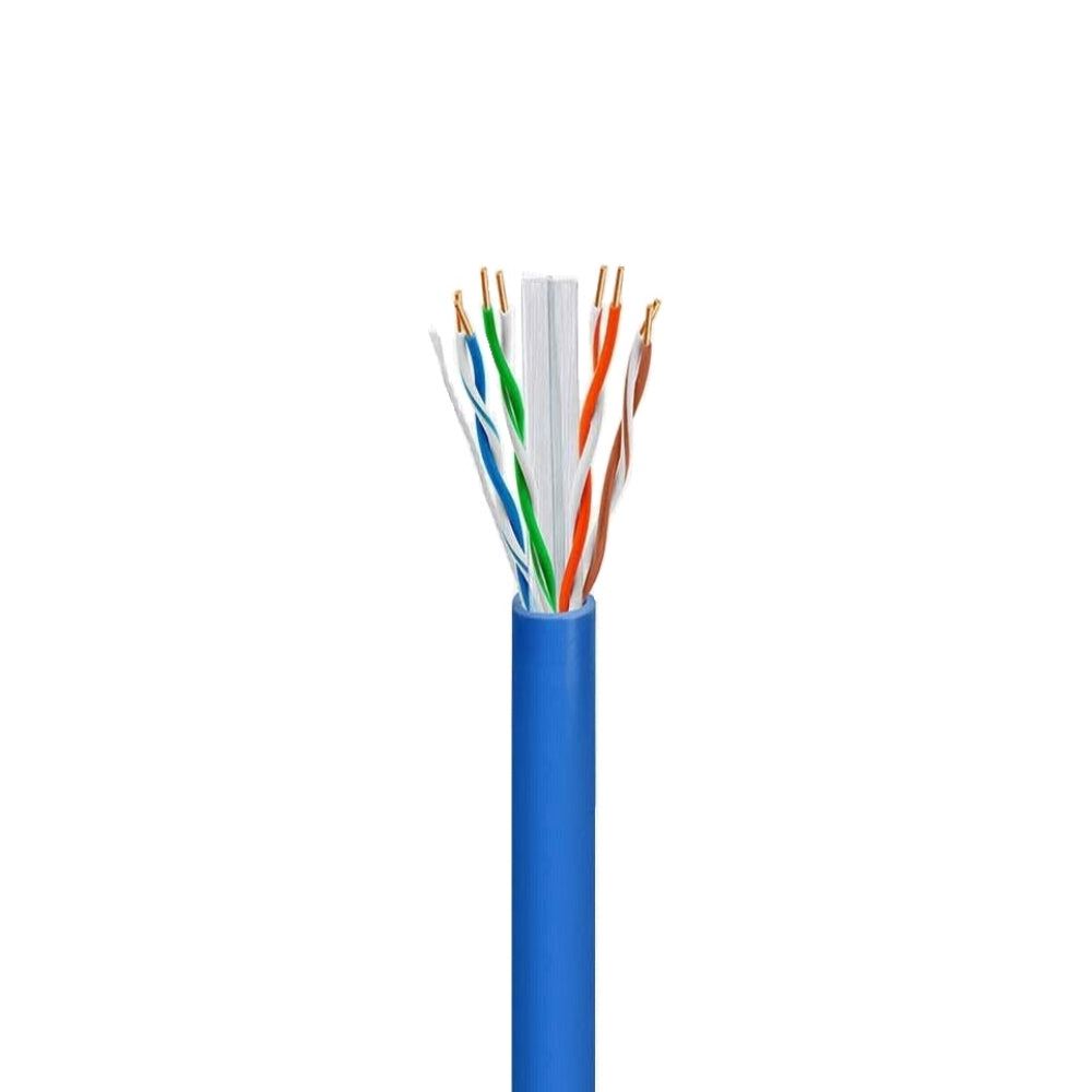 Cable Concepts CAT6 Plenum, FT6, UTP Ethernet Cable 550MHz, 4 Pr, 23AWG, 1000 Ft, Blue