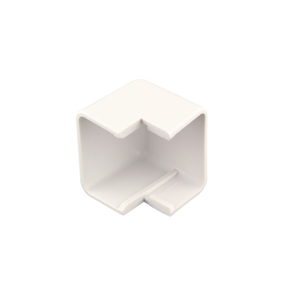 Construct Pro CON200OC Outside-Corner Raceway Adapter 1.38in (White) - 21st Century Entertainment Inc.