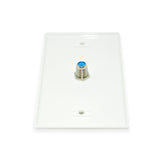 CDD Single-Port TV Wall Plate with High Frequency F81 3 GHz , White - 21st Century Entertainment Inc.