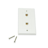 Dual Phone Wall Plate, White - 21st Century Entertainment Inc.