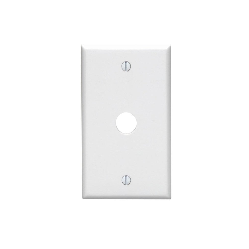 CDD Single Hole Wall Plate, White - 21st Century Entertainment Inc.