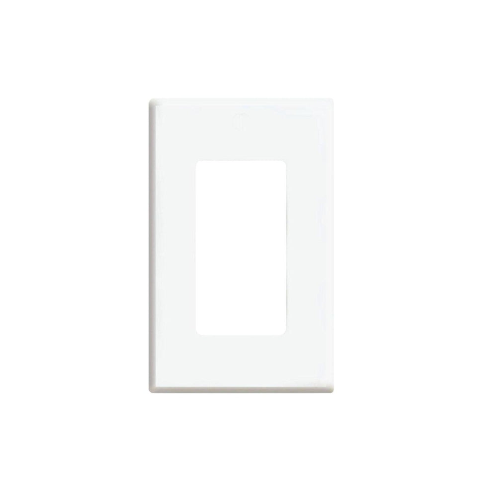 CDD Screwless Single Gang Decora Style Wall Plate, White