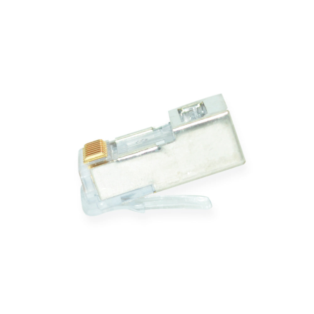 CDD Shielded EZ-RJ45 Connectors for Cat5e, Pack of 50 - 21st Century Entertainment Inc.