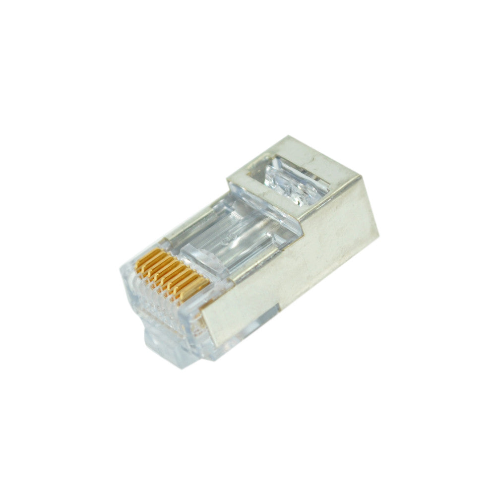 CDD Cat6 EZ-RJ45 Shielded Pass Through Modular Voice Data Connector, Pack of 50 - 21st Century Entertainment Inc.