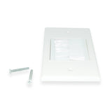 Construct Pro CON7020W Single-Gang WideMouth Décor Brush Plate (White Plate w/ White Brush) - 21st Century Entertainment Inc.