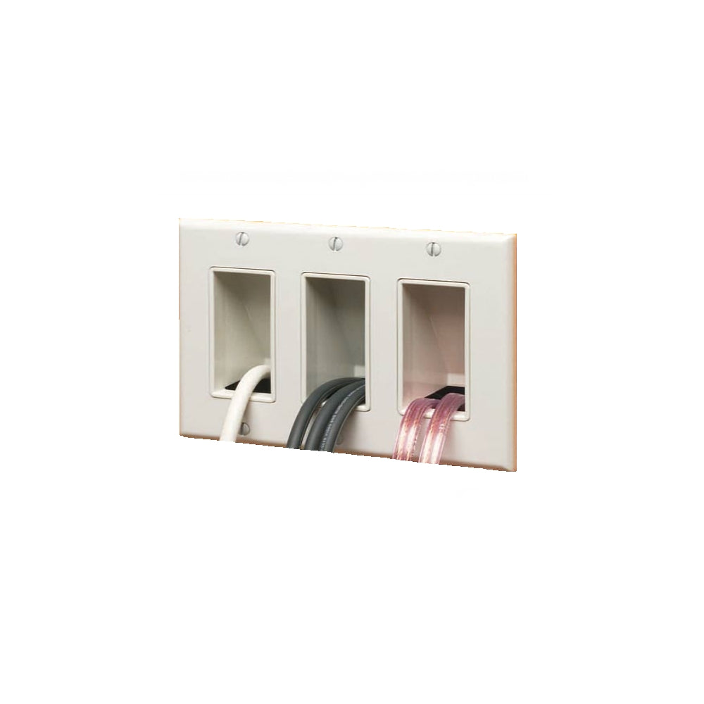 Arlington CED1-1 Cable Wall Plate Insert, Hide Wires, 1-Gang, White - 21st Century Entertainment Inc.