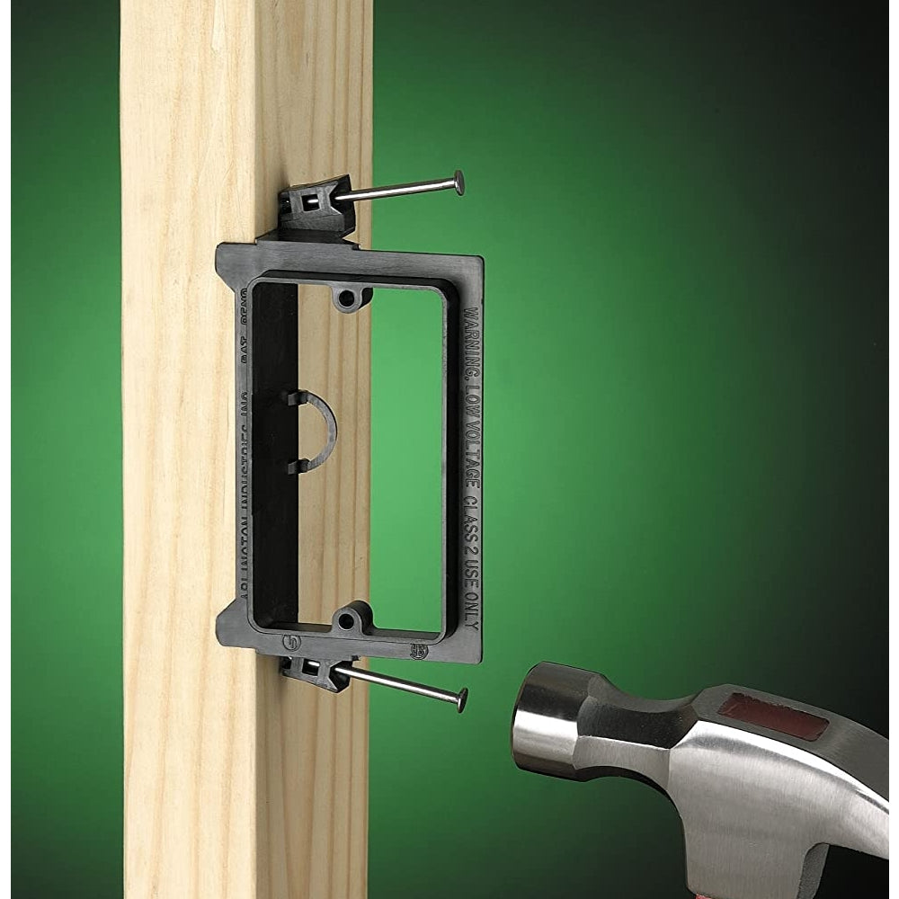 Arlington LVN1-1 Low Voltage Nail-On Mounting Bracket, 1-Gang