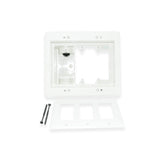 Arlington TVBR507 Triple Gang Recessed Electrical Box for Power Low Voltage - 21st Century Entertainment Inc.