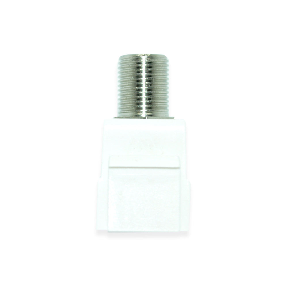 Keystone 3.0GHz F-81 Connector Insert, White - 21st Century Entertainment Inc.