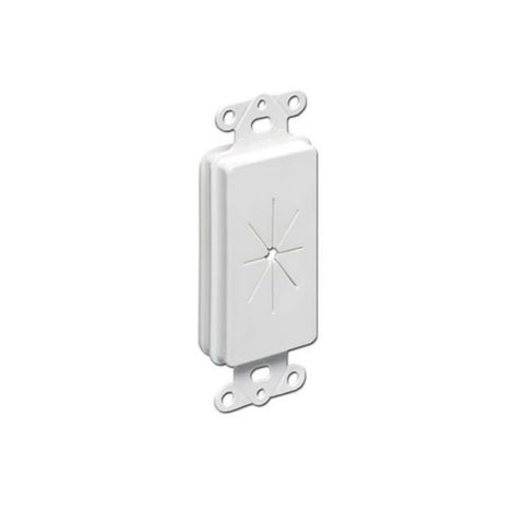 Wall Plate One Hole Hex Single Gang, White