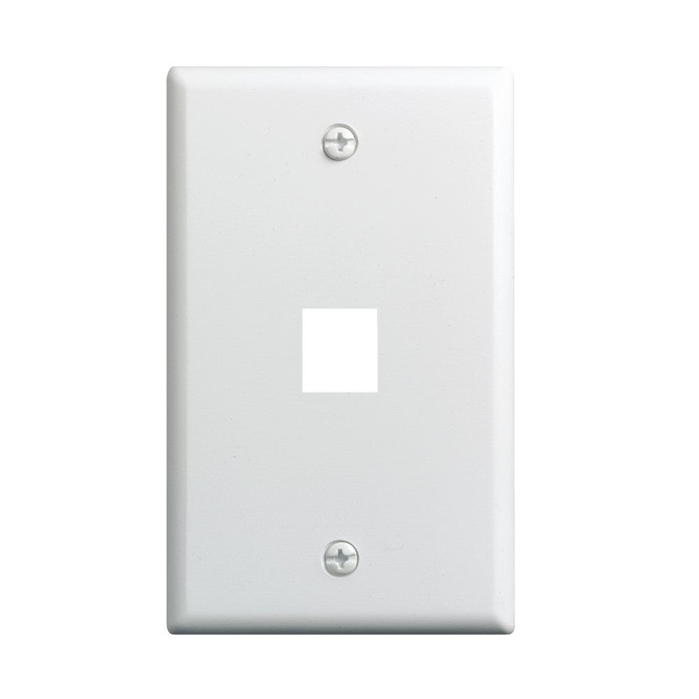 CDD Keystone Wall Plate 1 Cavity, White - 21st Century Entertainment Inc.