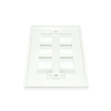 Keystone Wall Plate 6 Cavity, White - 21st Century Entertainment Inc.