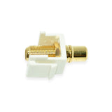 Keystone RCA Female Jack to F Adapter - 21st Century Entertainment Inc.