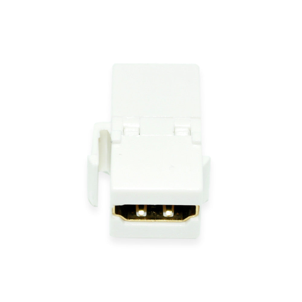 CDD HDMI Female To Female Keystone Coupler Insert, White - 21st Century Entertainment Inc.