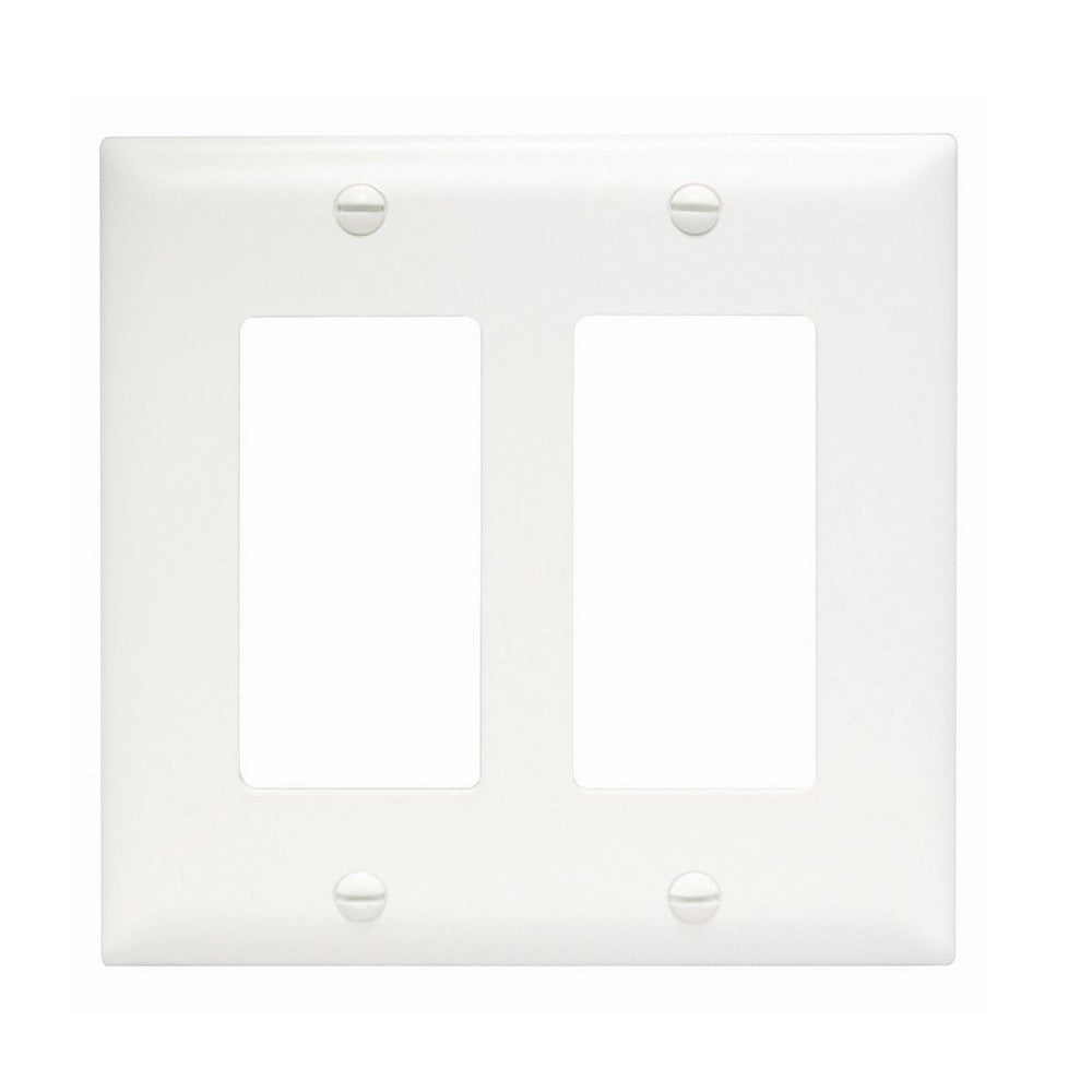 CDD Decorator, Double-Gang Wall Plate - White - 21st Century Entertainment Inc.
