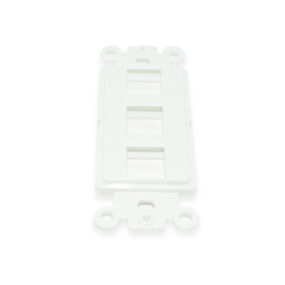 Keystone Decorator Insert, 3 Port, White