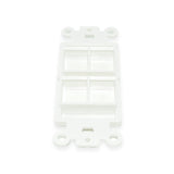 Keystone Decorator Insert, 4 Port, White - 21st Century Entertainment Inc.