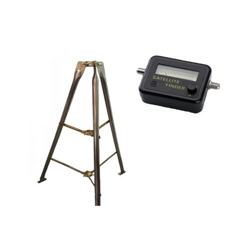CDD 5 ft. Heavy Duty Galvanized Tripod & CDD Satellite Signal Meter - 21st Century Entertainment Inc.