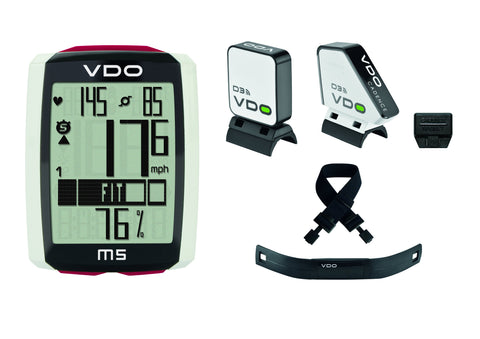 VDO Bicycle Computer M5 (wireless) bundle w/heart rate & cadence